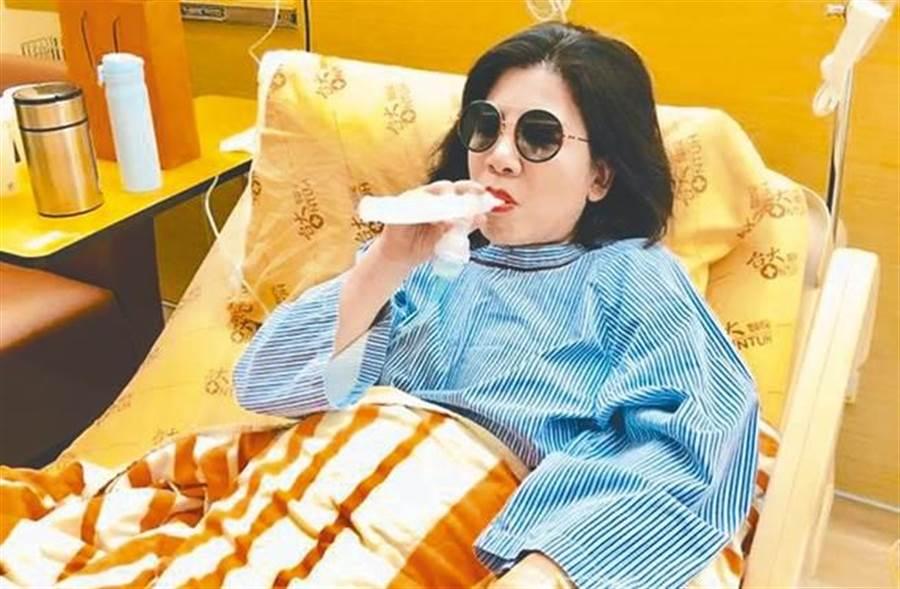 陳文茜罹癌術後已返家休養。(圖/陳文茜臉書)